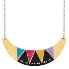 'Idol Eyes' Gold Collar Necklace