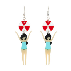 'Beach Life' Girl Earrings