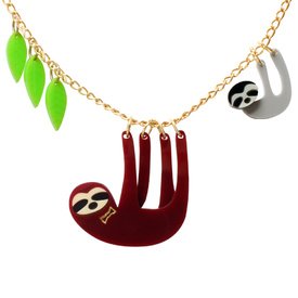 Sloth Family Necklace