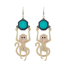 Macaque Monkey Earrings