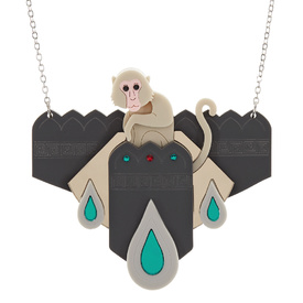 Macaque Monkey Temple Necklace