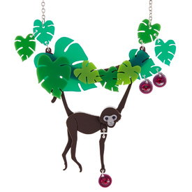 Spider Monkey Leaf Necklace