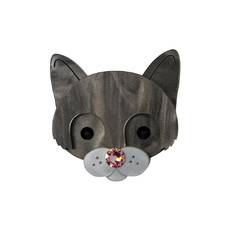 Cat Face Brooch