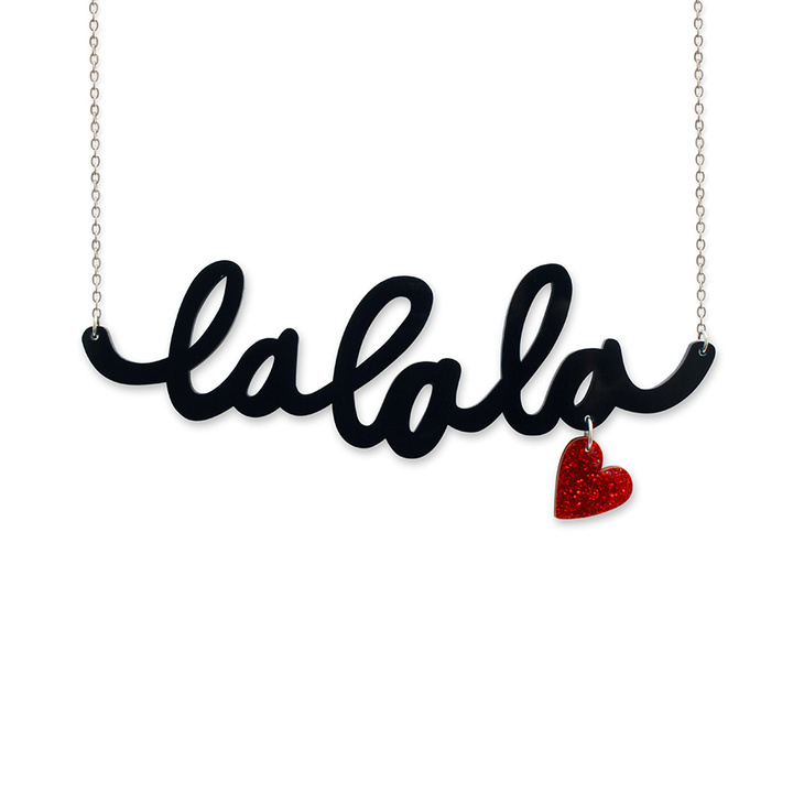 La La La Necklace | Little Moo...