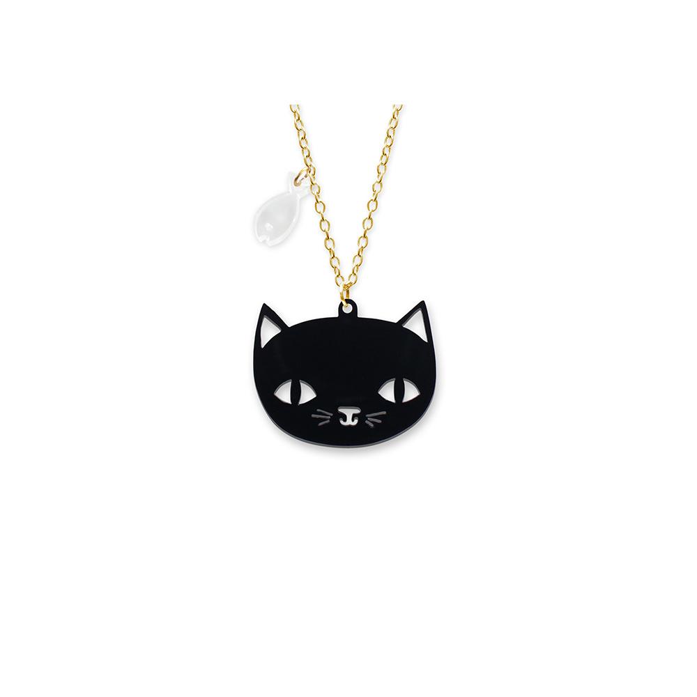 Black Cat Necklace Little Moose Playful Jewellery