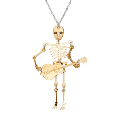 Gold Skeleton Necklace