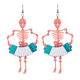 Coral Skeleton Earrings