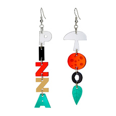Pizza Dangly Earrings