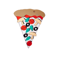 Pizza Brooch