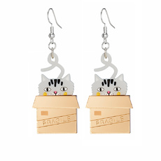 Cat In Box Earrings