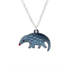 Pangolin Charm Necklace - Grey