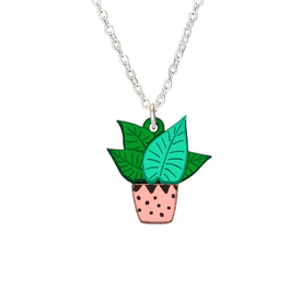 Houseplant Plant Mini Necklace