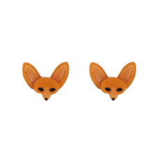Fennec Fox Stud Earrings - Orange