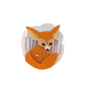 Fennec Fox Brooch