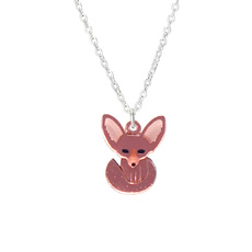 Fennec Fox Charm Necklace - Rose Gold