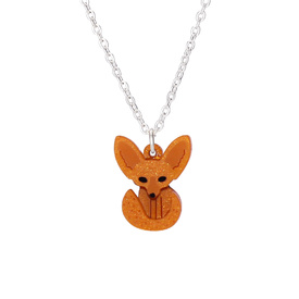 Fennec Fox Charm Necklace - Orange