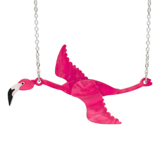 Flamingo Flying Necklace